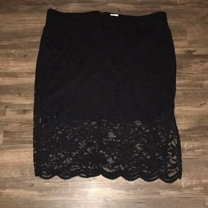 TORRID Stretch Lace Black PENCIL SKIRT~4/4X~NWT~